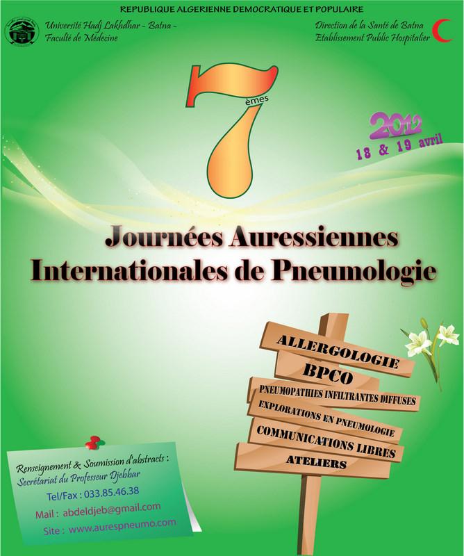 Les 7è Journées Auressiènnes Internationales de Pneumologie